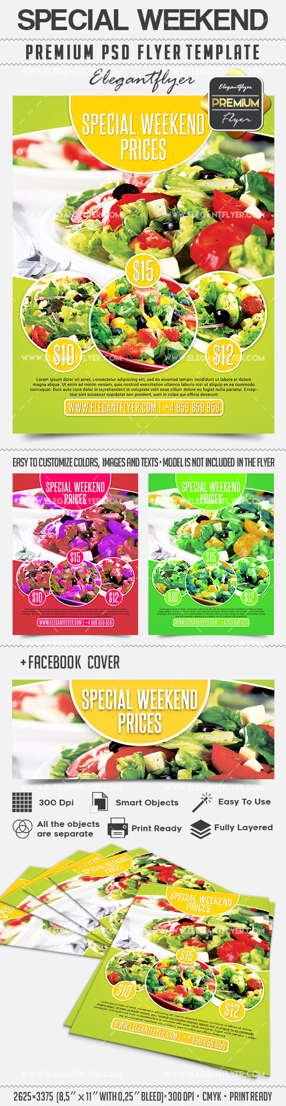 Special Weekend Offer – Flyer PSD Template + Facebook Cover