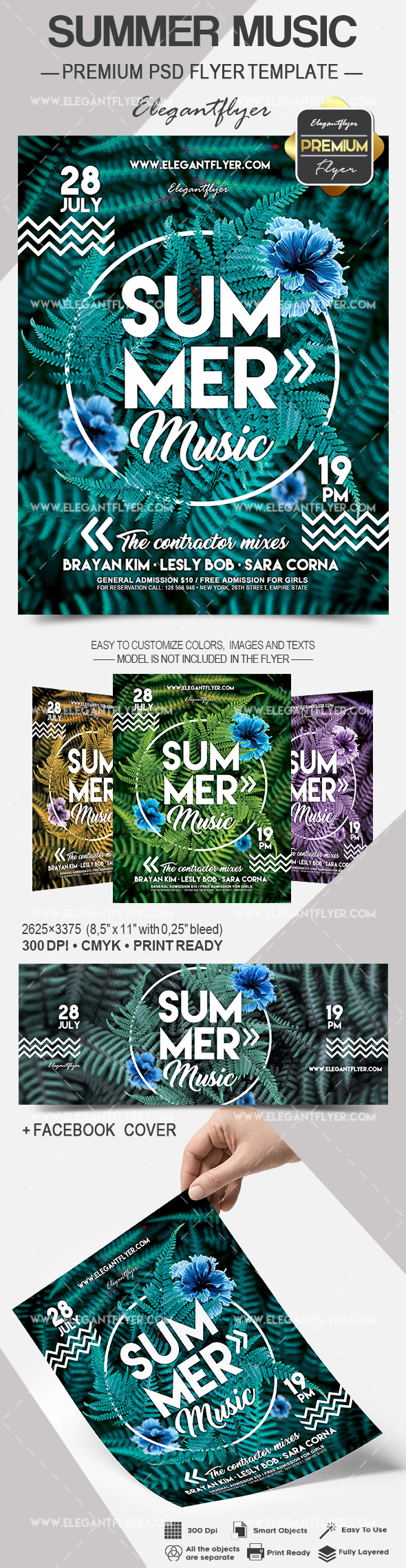 Summer Music – Flyer PSD Template