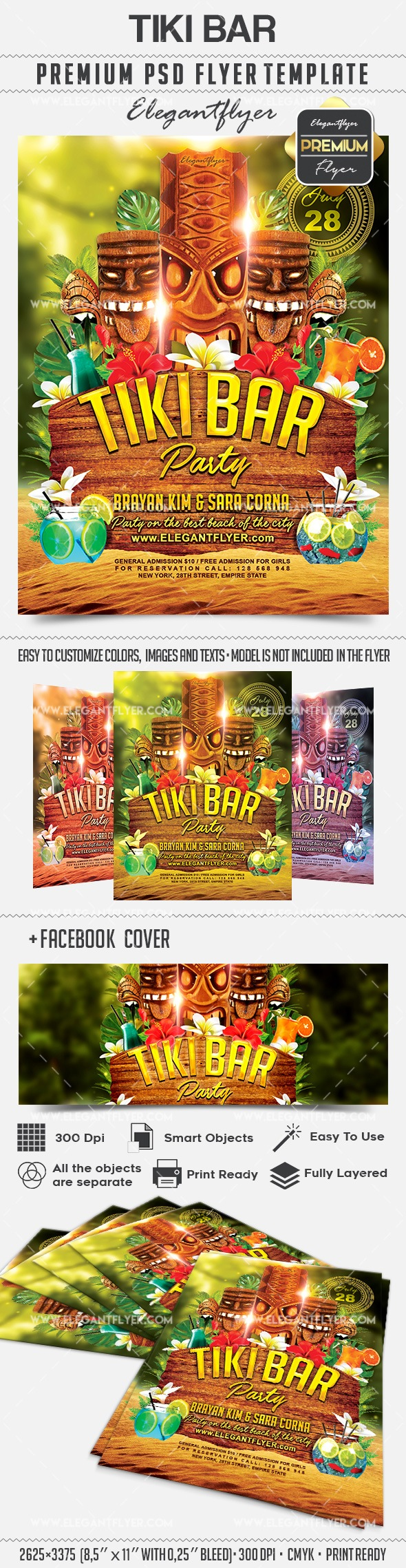 Tiki Bar – Flyer PSD Template