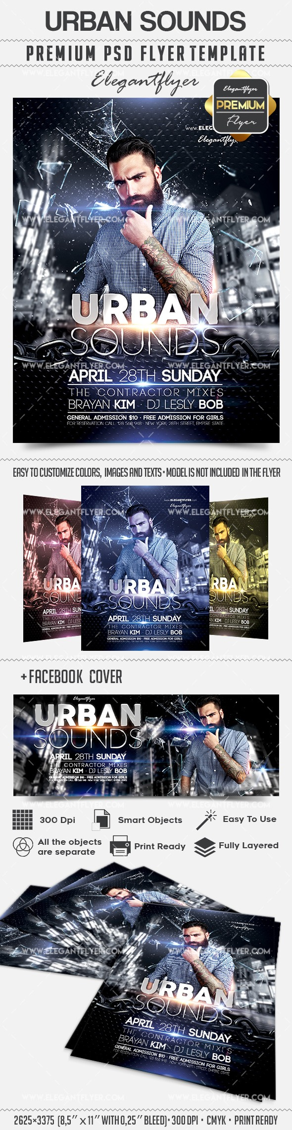 Urban Sounds – Flyer PSD Template