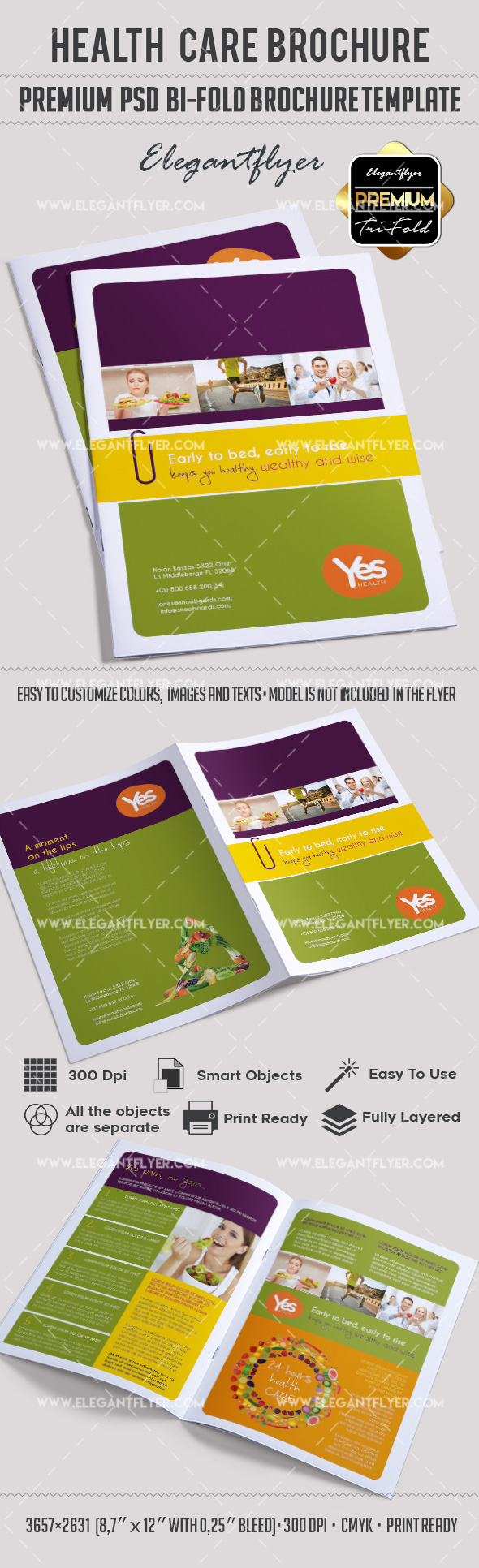 Health Care – Premium Bi-Fold PSD Brochure Template