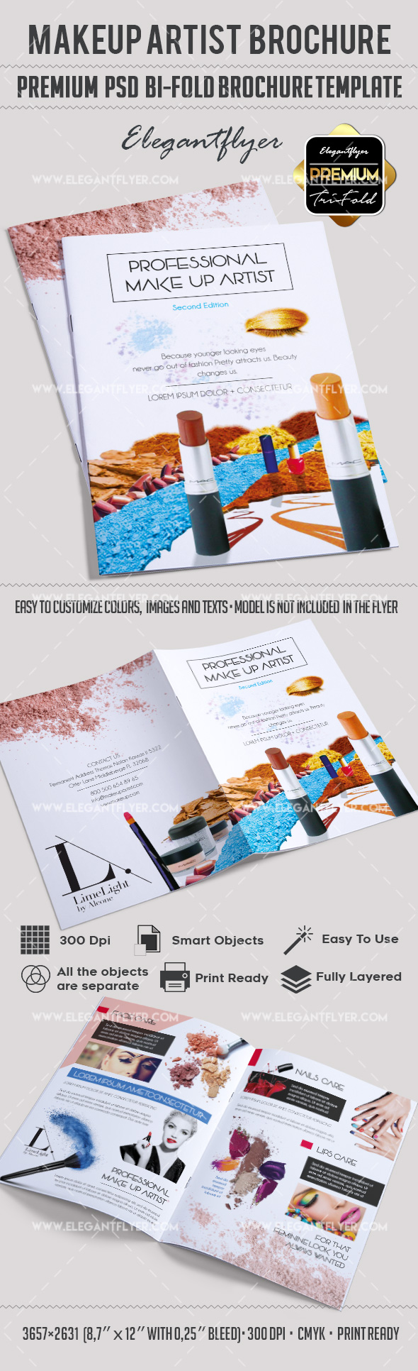 Brochure for Professional Makeup Artist