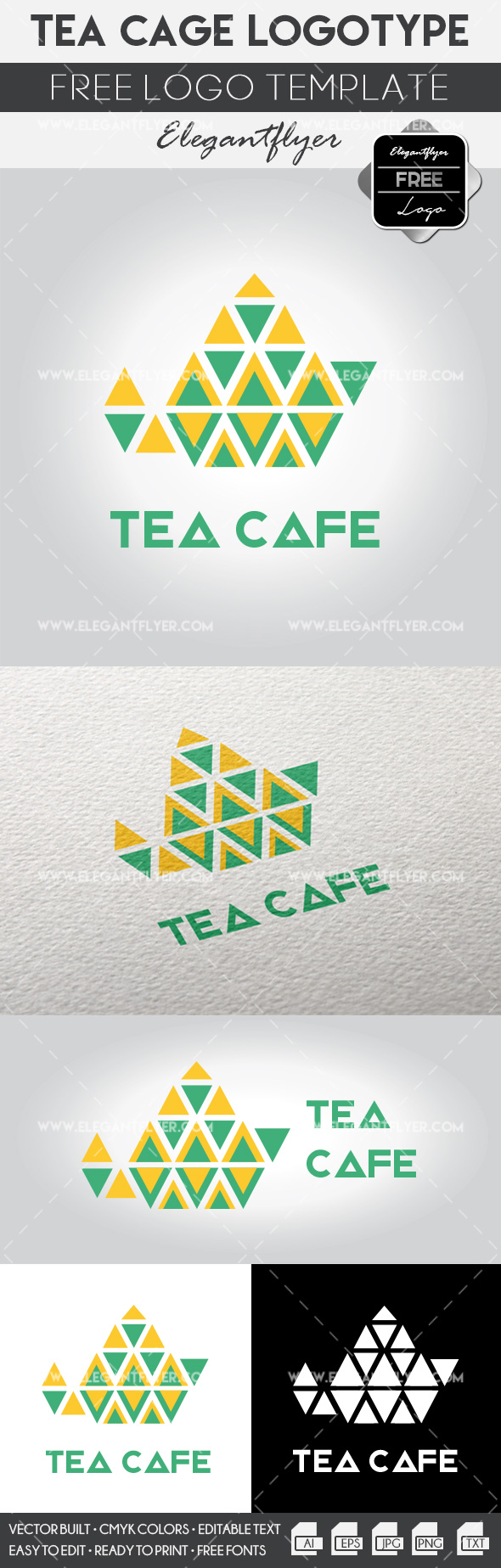 Tea cafe – Free Logo Template
