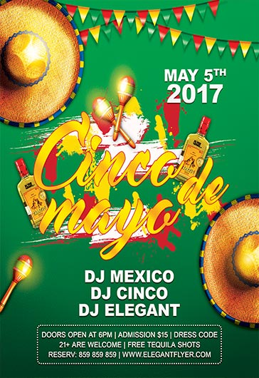Cinco de Mayo Flyer Invitation Template