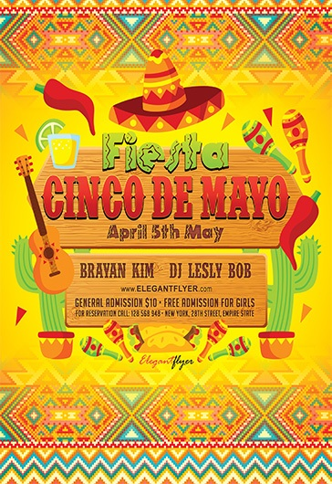 Cinco de Mayo Party – Facebook Cover Template in PSD + Post + Event cover