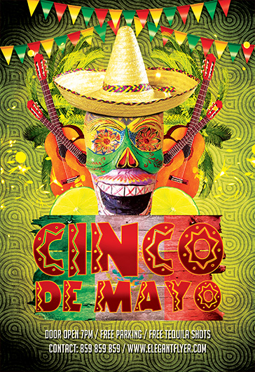 Cinco de Mayo Party Club Flyer