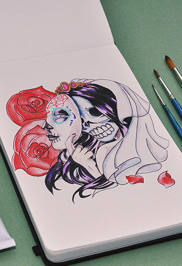 Dead Bride – Premium Stock Illustration