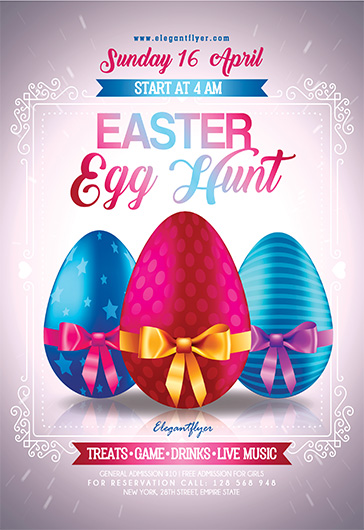 Easter Egg Hunt V03 – Flyer PSD Template