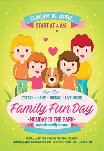 Family Fun Day – Flyer PSD Template + Facebook Cover