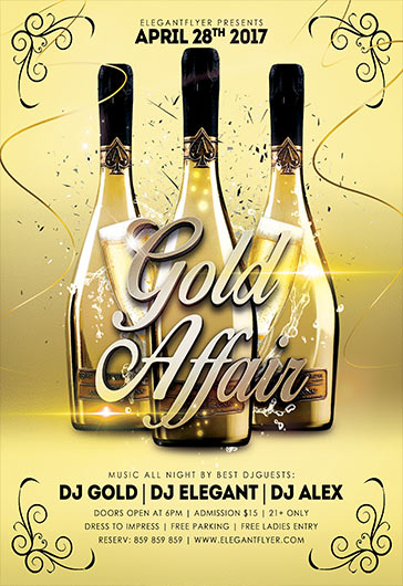 Gold Affair – Flyer PSD Template + Facebook Cover