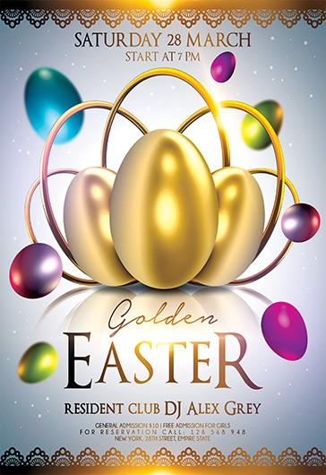 Golden Easter  Flyer Psd Template  By Elegantflyer