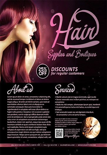 Beauty Care – Flyer PSD Template + Facebook Cover