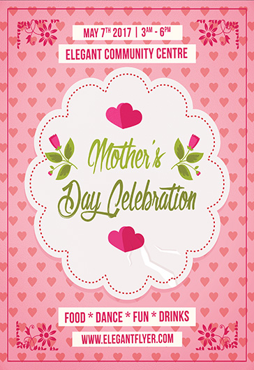 Mother Day Celebration – Flyer PSD Template + Facebook Cover