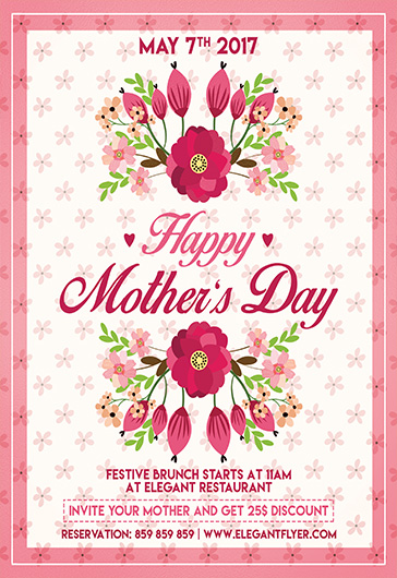 Mother Day – Flyer PSD Template + Facebook Cover