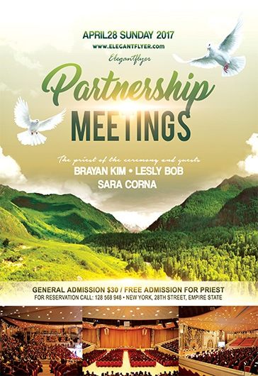Partnership Meetings – Flyer PSD Template + Facebook Cover