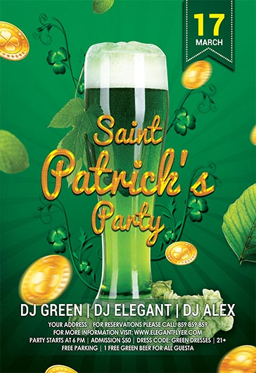 Patrick's Day – Flyer PSD Template + Facebook Cover