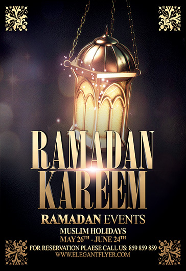Ramadan Kareem Vol.2 – Flyer PSD Template + Facebook Cover