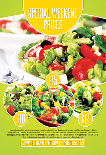 Food Promotion – Flyer PSD Template