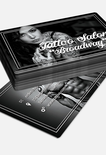 Tattoo salon premium business card psd template by elegantflyer wajeb Images