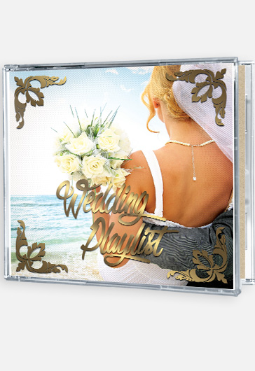 Wedding Playlist – Premium CD Cover PSD Template