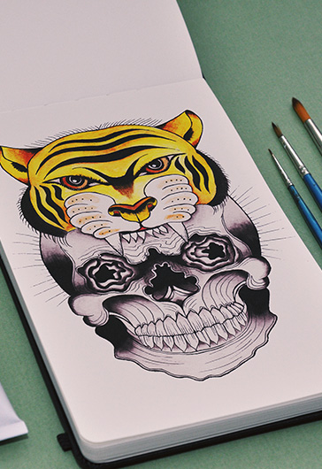 Wild Tiger – Premium Stock Illustration