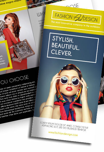 Fashion  Free TriFold Psd Brochure Template  By Elegantflyer