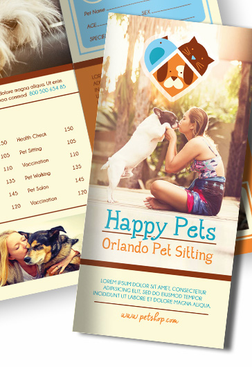 Pet Shop – Free PSD Tri-Fold PSD Brochure Template