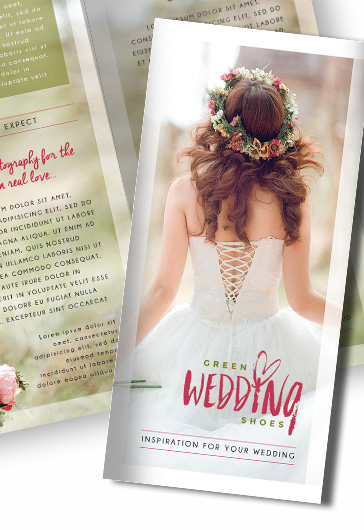 Wedding Photography – Premium Bi-Fold Psd Brochure Template – By