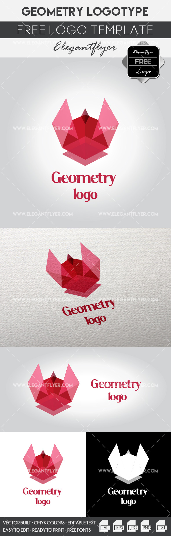 Geometry logo – Free Logo Template