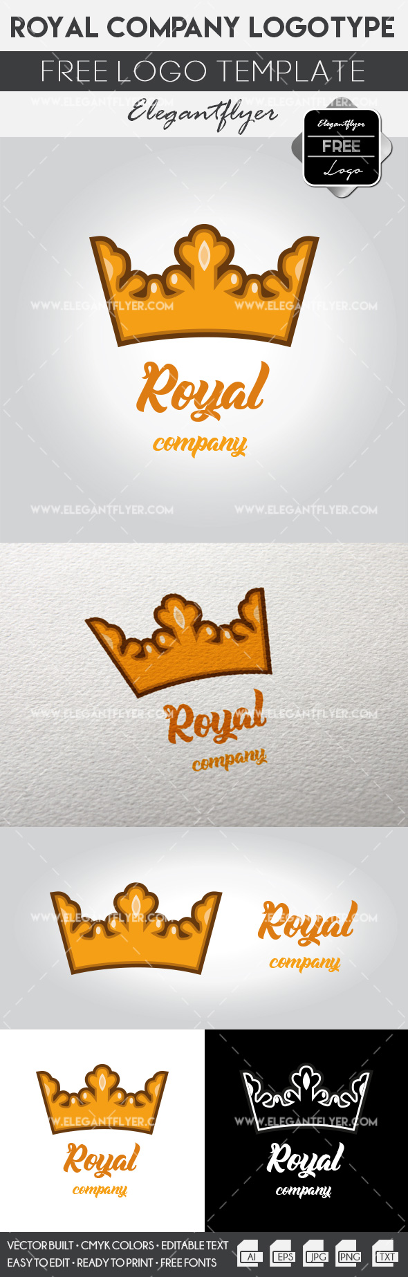 Royal company – Free Logo Template