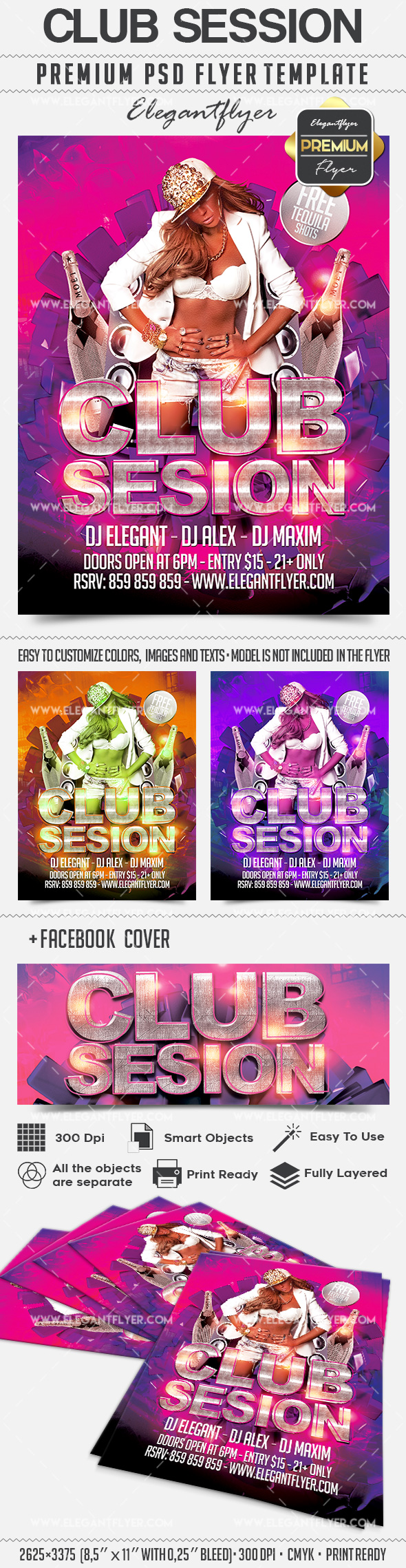 Club Session – Flyer PSD Template