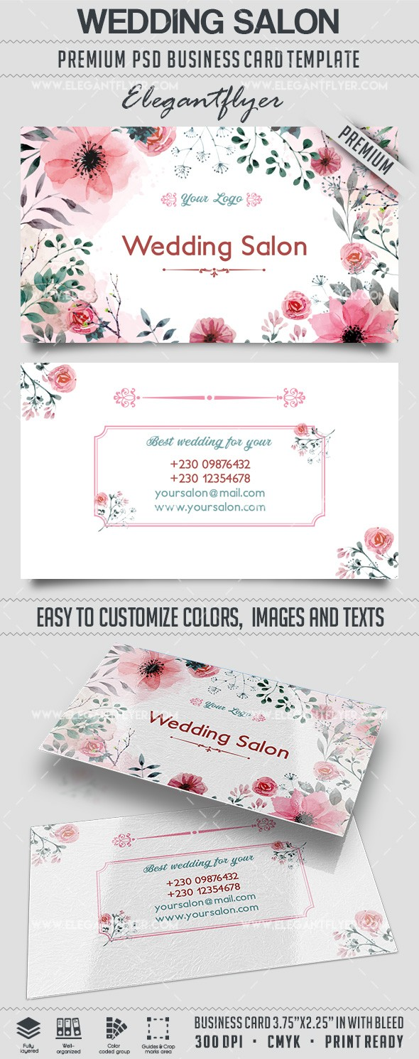 wedding salon � business card templates psd � by elegantflyer