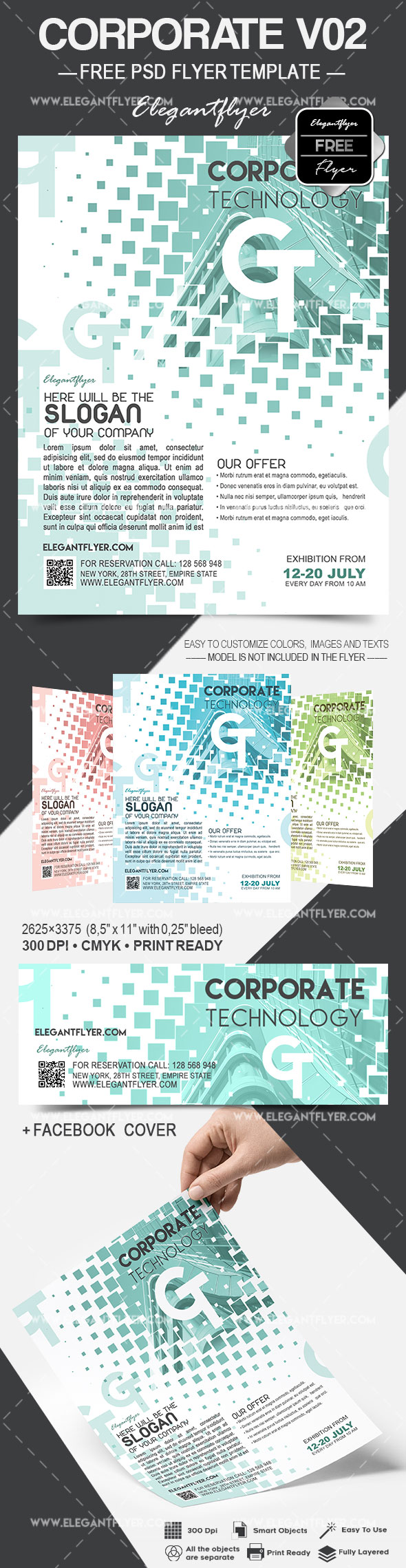Free Corporate – Flyer PSD Template