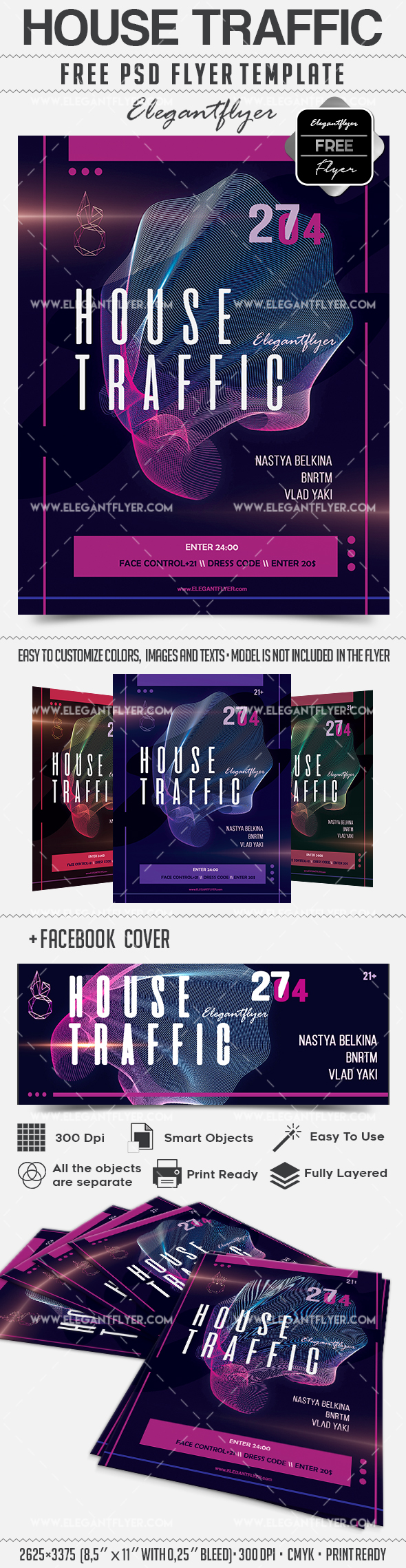 House Traffic – Flyer PSD Template