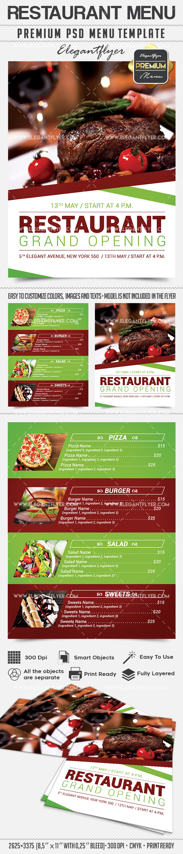 Restaurant Menu – Premium Flyer PSD Template
