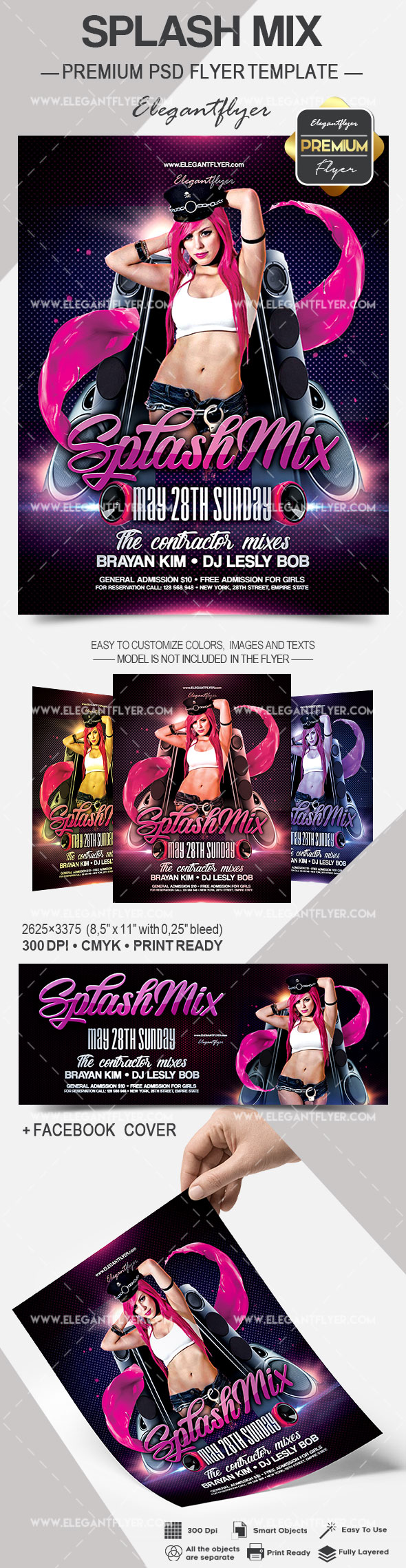Splash Mix – Flyer PSD Template