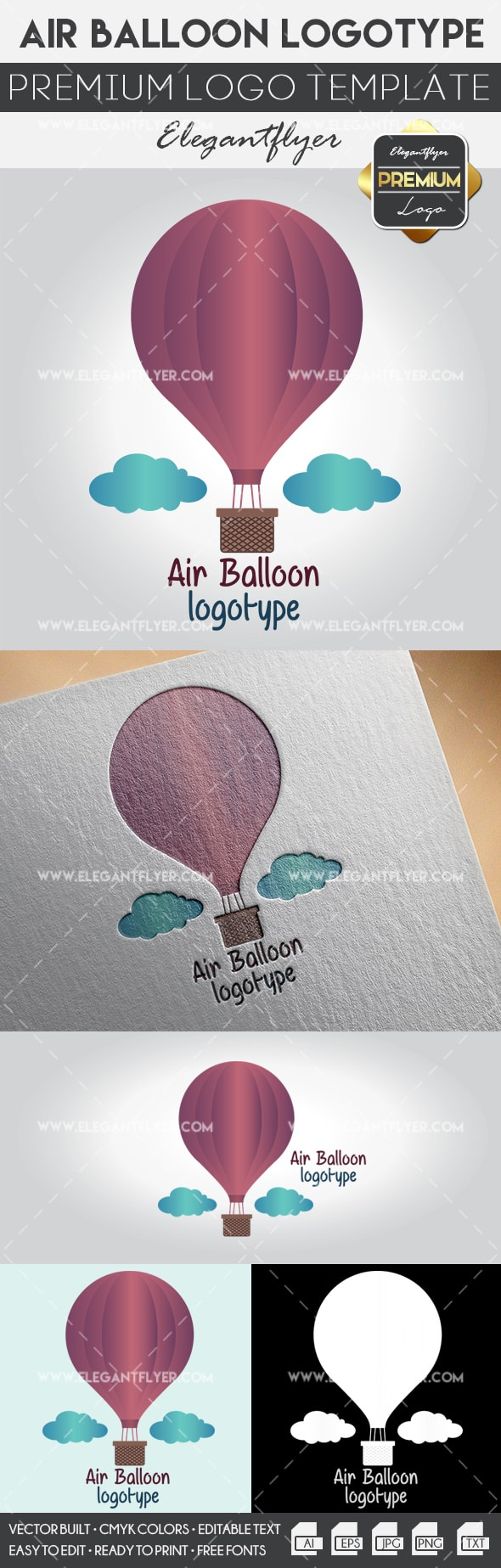 Air Balloon – Premium Logo Template