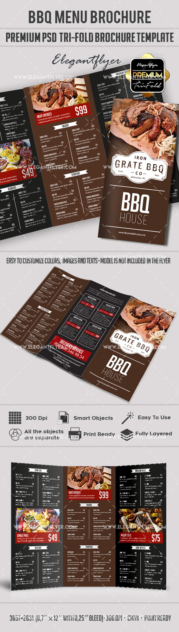 Brochure for BBQ Menu Template