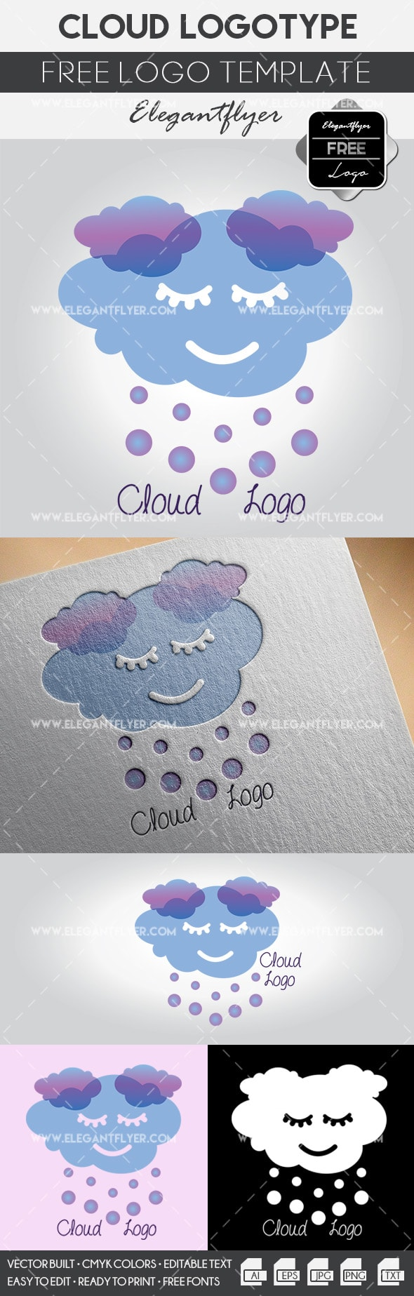 Cloud – Free Logo Template
