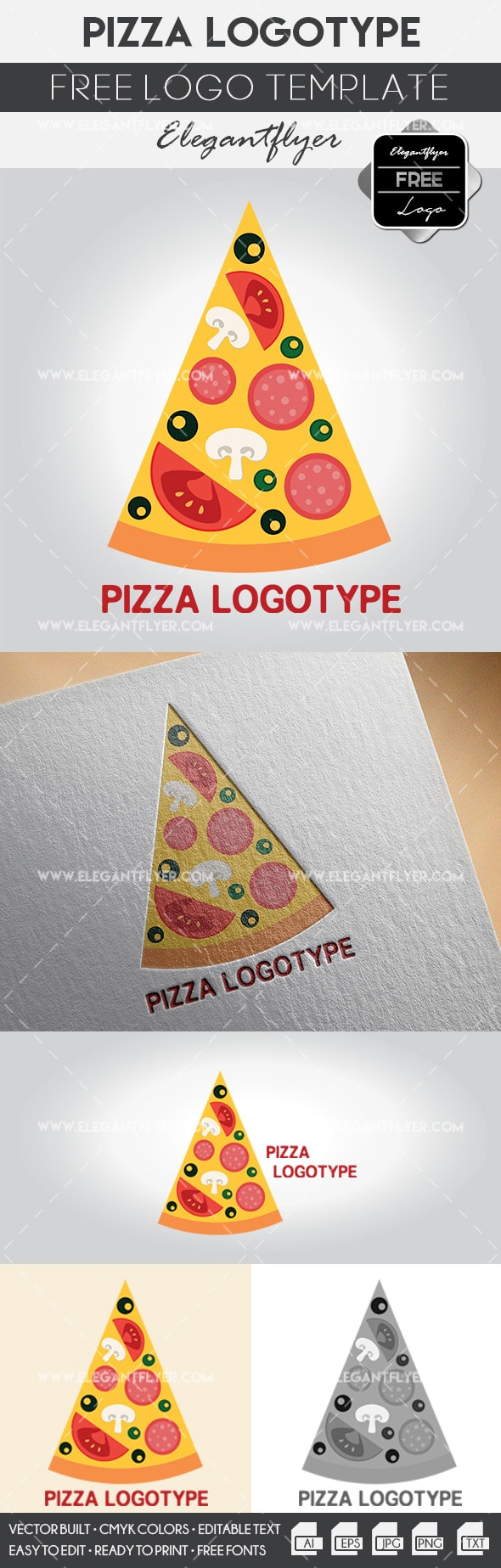 Pizza – Free Logo Template