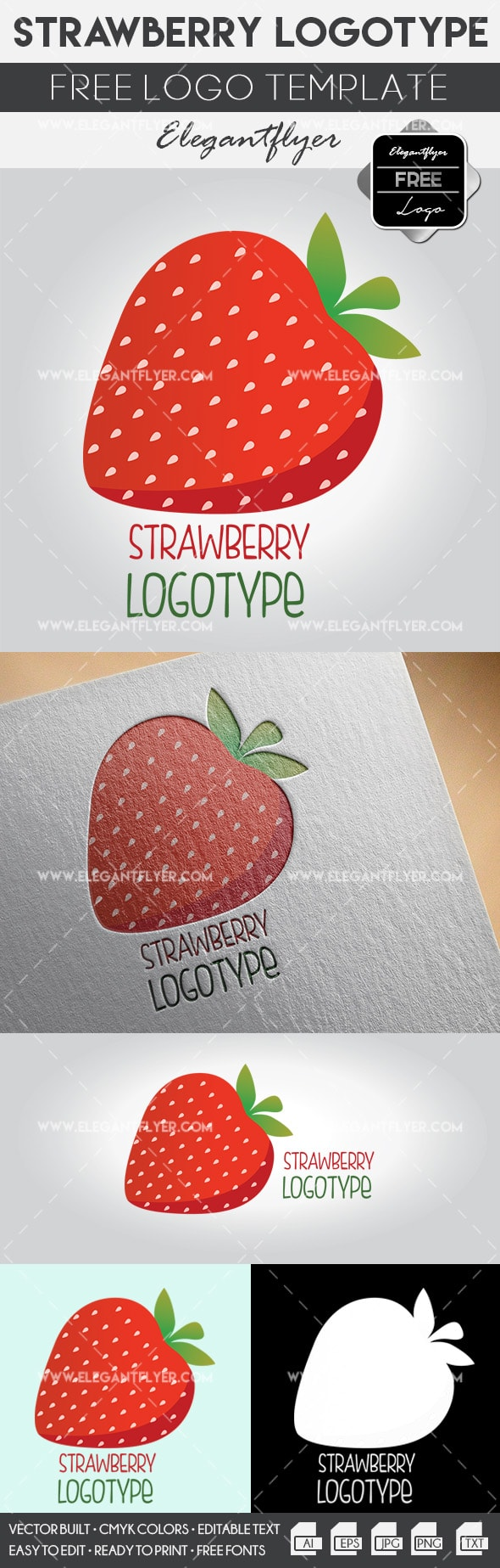 Strawberry – Free Logo Template