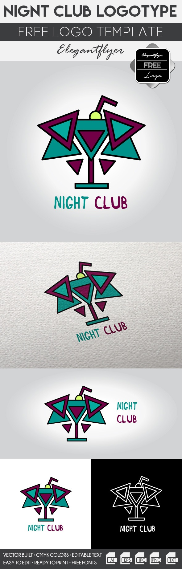 Night Club – Free Logo Template