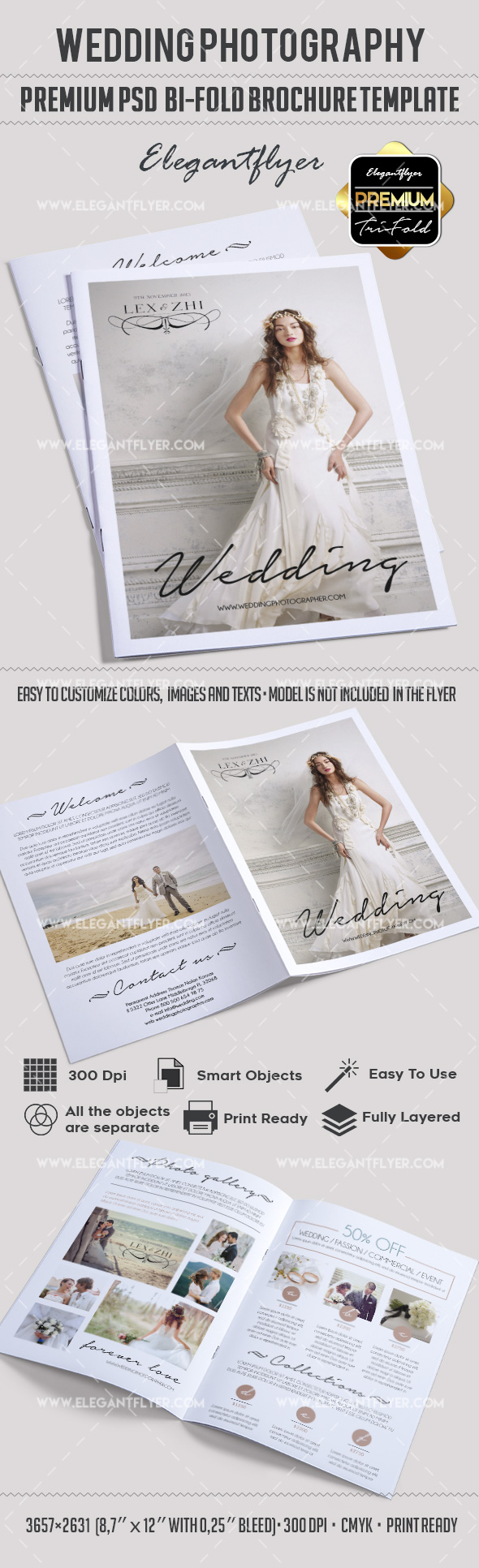 Wedding Photography Bi-Fold PSD Brochure