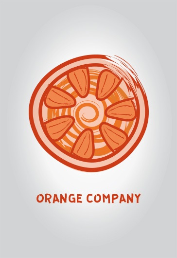 Orange company – Free Logo Template