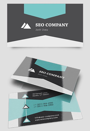 Seo Company – Business Card Templates PSD