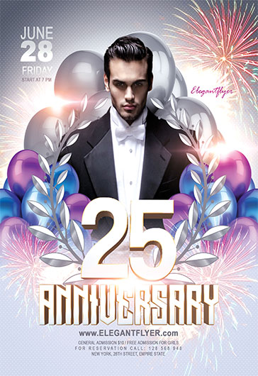 Anniversary – Flyer PSD Template + Facebook Cover