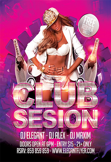 Club Session – Flyer PSD Template + Facebook Cover