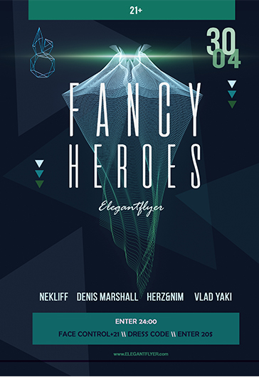 Fancy Heroes – Flyer PSD Template