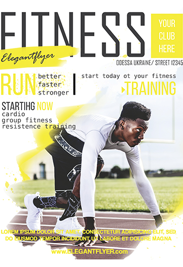Fitness for men poster by elegantflyer for Fitness brochure template