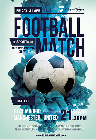 Football Match Flyer in PSD